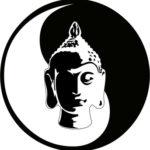 bild von yin und yang mit buddha