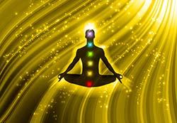 Tägliche Meditation steigert das Wohlbefinden.